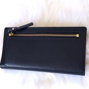 Kate Spade Grand Street Stacy Oceano Navy Blue Leather Wallet WLRU2153